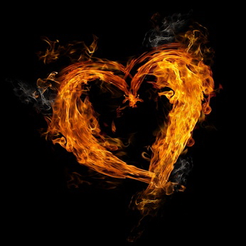 Heart made of fire