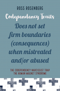 Does not set firm boundaries (consequences) when mistreated and/or abused